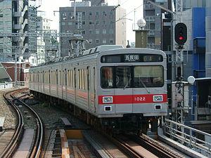 Tōkyū Ikegami Line - A Tokyu Ikegami Line 1000 series EMU in August 2004