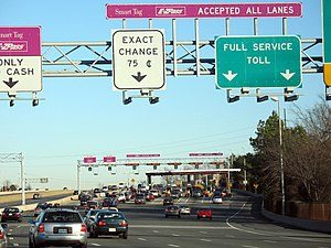 Virginia State Route 267 - Image: Toll Plaza on Dulles Toll Road 1