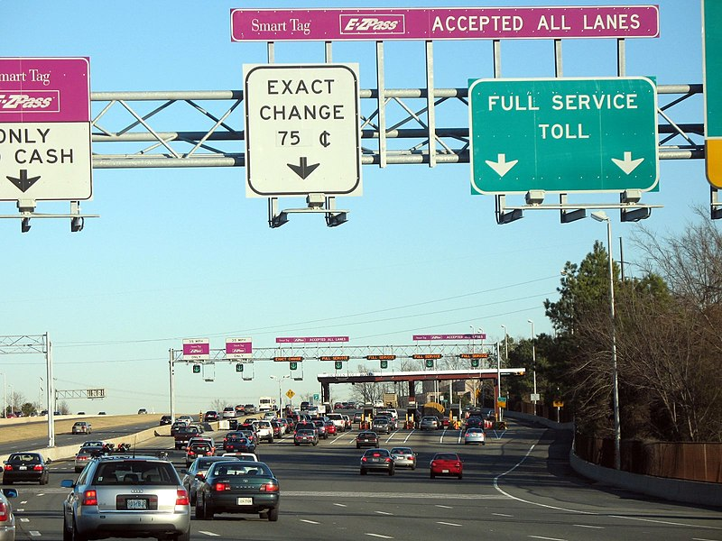 File:Toll Plaza on Dulles Toll Road 1.JPG