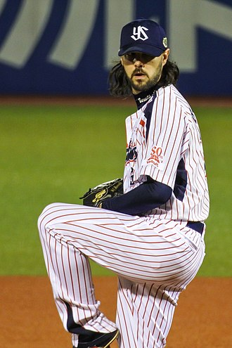 Tony Barnette - Barnette pitching for the Tokyo Yakult Swallows in 2015 Japan Series