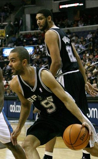 Bill Russell NBA Finals Most Valuable Player Award - Tony Parker (bottom) is the first European player to win the award.