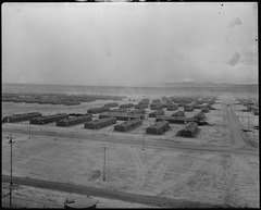Topaz, Utah. A panorama view of the Central Utah Relocation Center, taken from the water tower. - NARA - 536975.tif