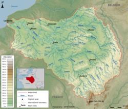 Seine River On Map Of Europe.Seine Wikipedia