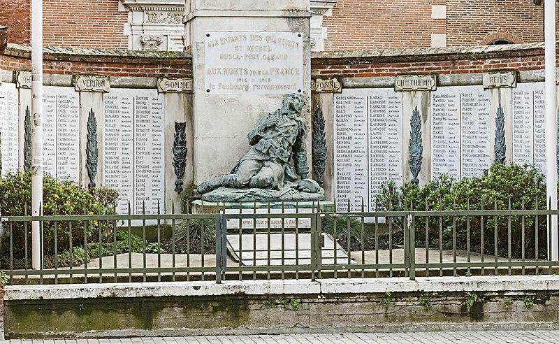 Monument aux morts - Toulouse - Première Guerre mondiale - Hommage - Mémoire - Sacrifice - Soldats - France - SchoolMouv - Histoire - CM2