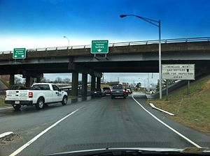 Midtown Tunnel (Virginia) - Traffic on the Norfolk Approach to the Midtown Tunnel
