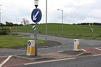 Traffic island, Ballymagorry, May 2010.JPG