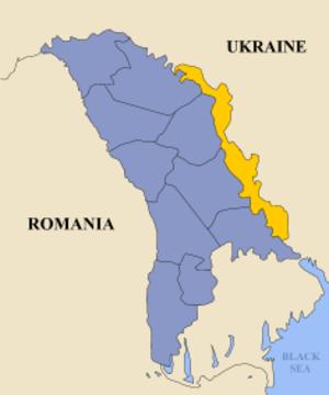 Pridnestrovian Moldavian Soviet Socialist Republic - Image: Transnistria map