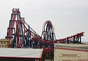 Infusion (roller coaster) - Traumatizer at Pleasureland Southport