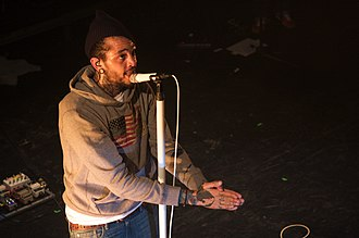 Lazarus (Travie McCoy album) - McCoy performing on March 18, 2011 in Montreal as part as the Sgt. Schlepper's Who Needs Hearts Club Band Tour.
