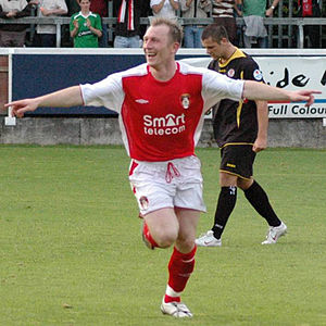 Trevor Molloy - Trevor Molloy after scoring for Pats v Sligo in 2006