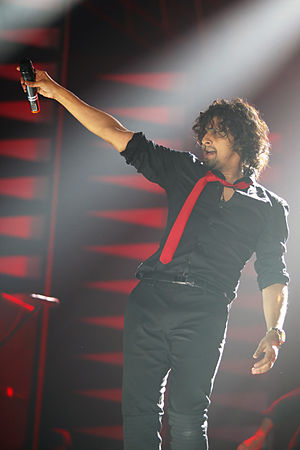 Sonu Nigam - Nigam performing at live concert in 2012