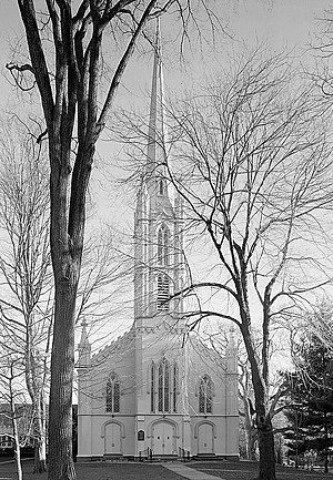 Southport, Connecticut - Trinity Church in Southport, photographed in 1966