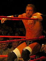Triple H during a RAW house show