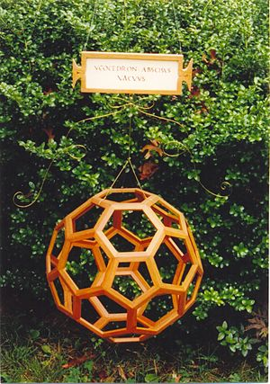 Truncated icosahedron - Image: Truncated icosahedron cherry model by George W. Hart