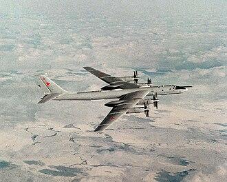 Tupolev Tu-142 - A Tu-142MR in-flight