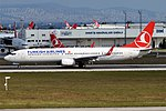 Turkish Airlines, TC-JYH, Boeing 737-9F2 ER (19582947722) (3).jpg