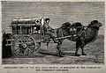 Turkoman Campaign; an ambulance vehicle. Wood engraving. Wellcome V0015383.jpg