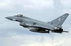 Eurofighter Typhoon F2 w barwach RAF-u.