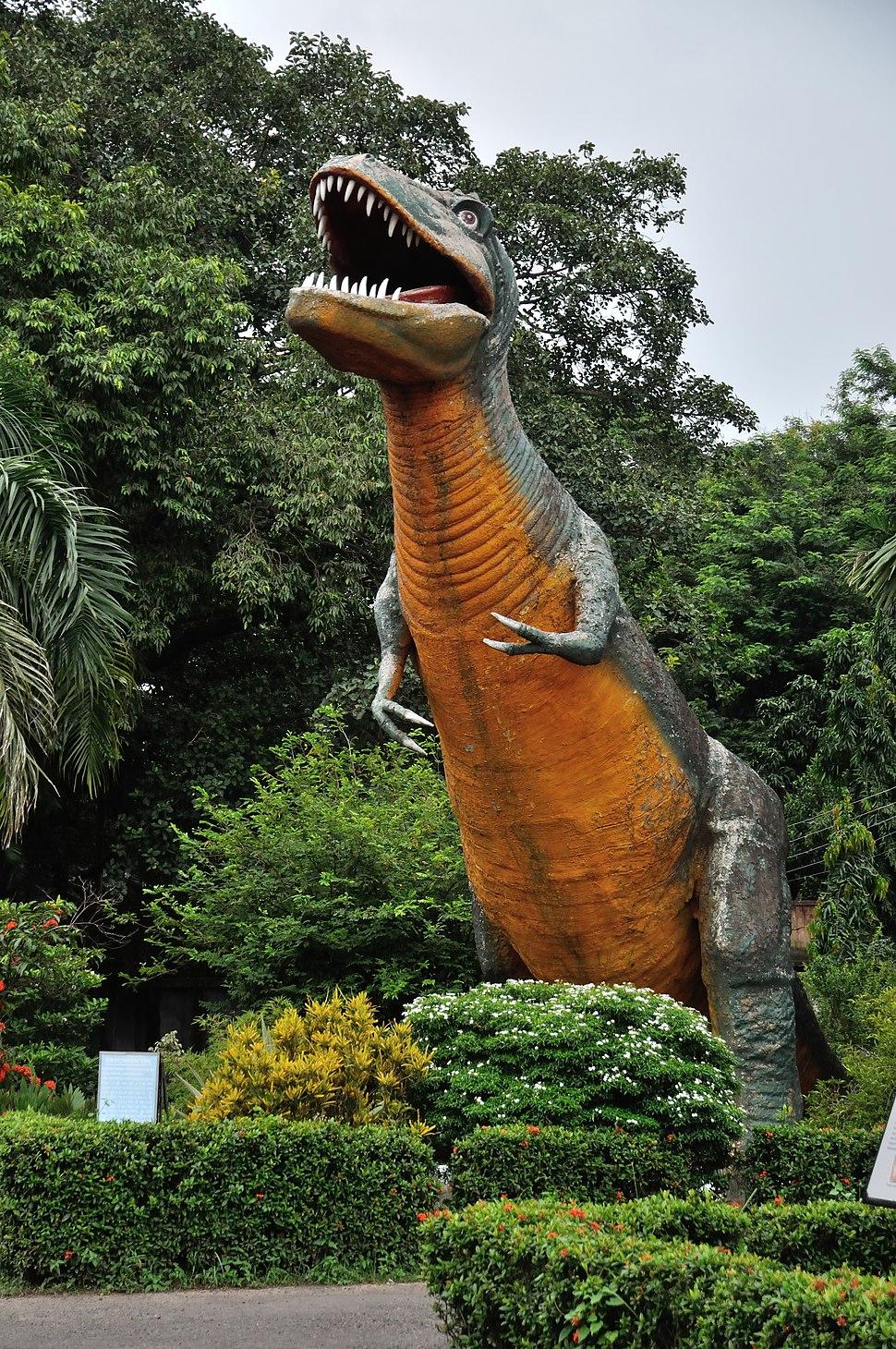 Tyrannosaurus rex - Fibreglass Statue - Bardhaman Science Centre - Bardhaman 2015-07-24 1528