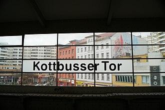 Kottbusser Tor (Berlin U-Bahn) - Image: U Bahn Kottbusser Tor Berlin panoramio
