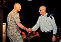 U.S. Air Force Lt. Gen. Craig Franklin, left, and Israeli Defence Forces (IDF) Maj. Gen. Yoav Har-Even, the head of the operations directorate of the IDF, shake hands during the closing ceremony of Austere 121108-F-QW942-091.jpg