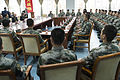 U.S. Army Gen. Martin E. Dempsey, seated left, facing camera, the chairman of the Joint Chiefs of Staff, meets with People's Liberation Army (PLA) cadets at a PLA Aviation Corps academy near Beijing April 24 130424-D-VO565-040.jpg