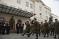 U.S. Defense Secretary Chuck Hagel, left, and Polish Defense Minister Tomasz Siemoniak review troops at the Ministry of National Defense in Warsaw, Poland 140130-M-EV637-309.jpg