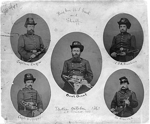 Army of the Tennessee - Brigadier General Grant and staff, Cairo, October 1861