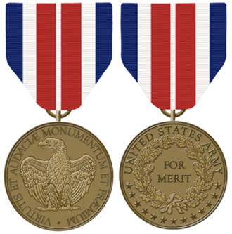Certificate of Merit Medal - Obverse and reverse of the Certificate of Merit Medal
