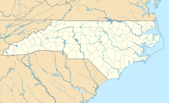 USA North Carolina location map