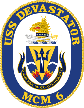USS Devastator (MCM-6) - Image: USS Devastator MCM 6 Crest
