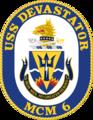 USS Devastator MCM-6 Crest.png