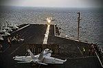 USS Dwight D. Eisenhower conducts flight operations. (31026172855).jpg