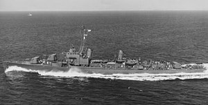 USS Harwood (DD-861) in 1945