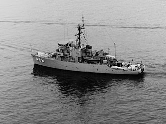 USS Lucid (MSO-458) - Image: USS Lucid (MSO 458) underway in the Pacific Ocean in February 1970