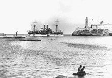 220px USS Maine entering Havana harbor HD SN 99 01929