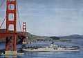 USS Princeton (CV-37) with Golden Gate Bridge c1948.jpg