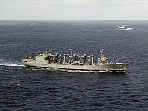 USS Savannah (AOR-4) underway in 1986