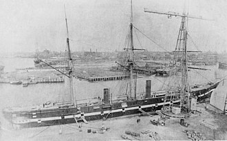 William F. Durand - Tennessee at Brooklyn Navy Yard in 1875.