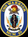 USS Warrior MCM-10 Crest.png