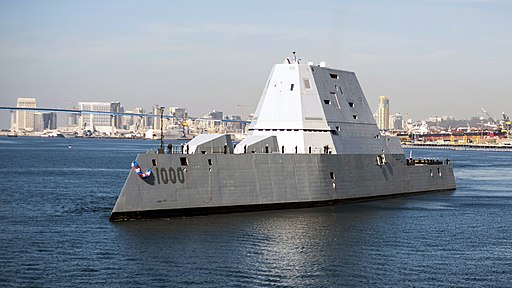 USS Zumwalt (DDG 1000) arrives at its new homeport in San Diego. (30788669823)