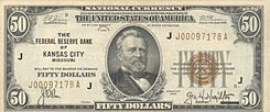 1974 Fifty Dollar Bill http://en.wikipedia.org/wiki/United_States_fifty-dollar_bill