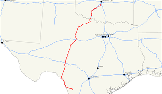 U.S. Route 277 - Image: US 277 map