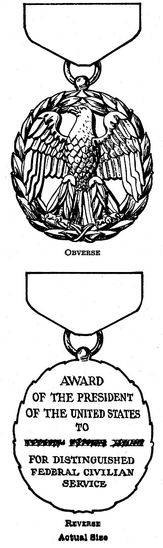 President's Award for Distinguished Federal Civilian Service - Award design, from Executive Order