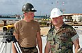 US Navy 031124-N-9712C-002 Engineering Aide 2nd Class Povilas Pekinas talks with Rear Adm. Charles Kubic.jpg
