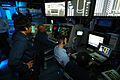 US Navy 031217-N-6278K-001 Air Traffic Controllers man the Carrier Air Traffic Control Center (CATCC) during flight operations aboard USS George Washington (CVN 73).jpg