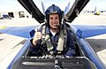 US Navy 050228-N-5862D-186 Fitz-Bradshaw racing team driver Scott Lagasse Jr. gives a thumbs up after being strapped into the back seat of an U.S. Navy's Flight Demonstration Team Blue Angels F-A-18A Hornet.jpg