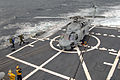 US Navy 070409-N-5681S-016 An SH-60B Seahawk assigned to Helicopter Anti-Submarine Squadron Light (HSL) 46 lands aboard the guided missile destroyer USS Bainbridge (DDG 96).jpg