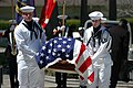 US Navy 070421-N-0924R-015 The Regional Honor Guard carries the casket of retired Capt. Thomas David Parham Jr. into the Naval Amphibious Base Little Creek Chapel during a memorial service in his honor.jpg