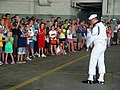 US Navy 070707-N-2888Q-006 The U.S. Navy Ceremonial Guard performs for fifth graders from Edgemont Elementary School, Belleville, Mich.jpg